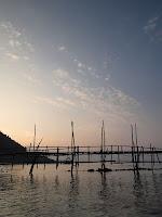 Pulau Besar at dawn