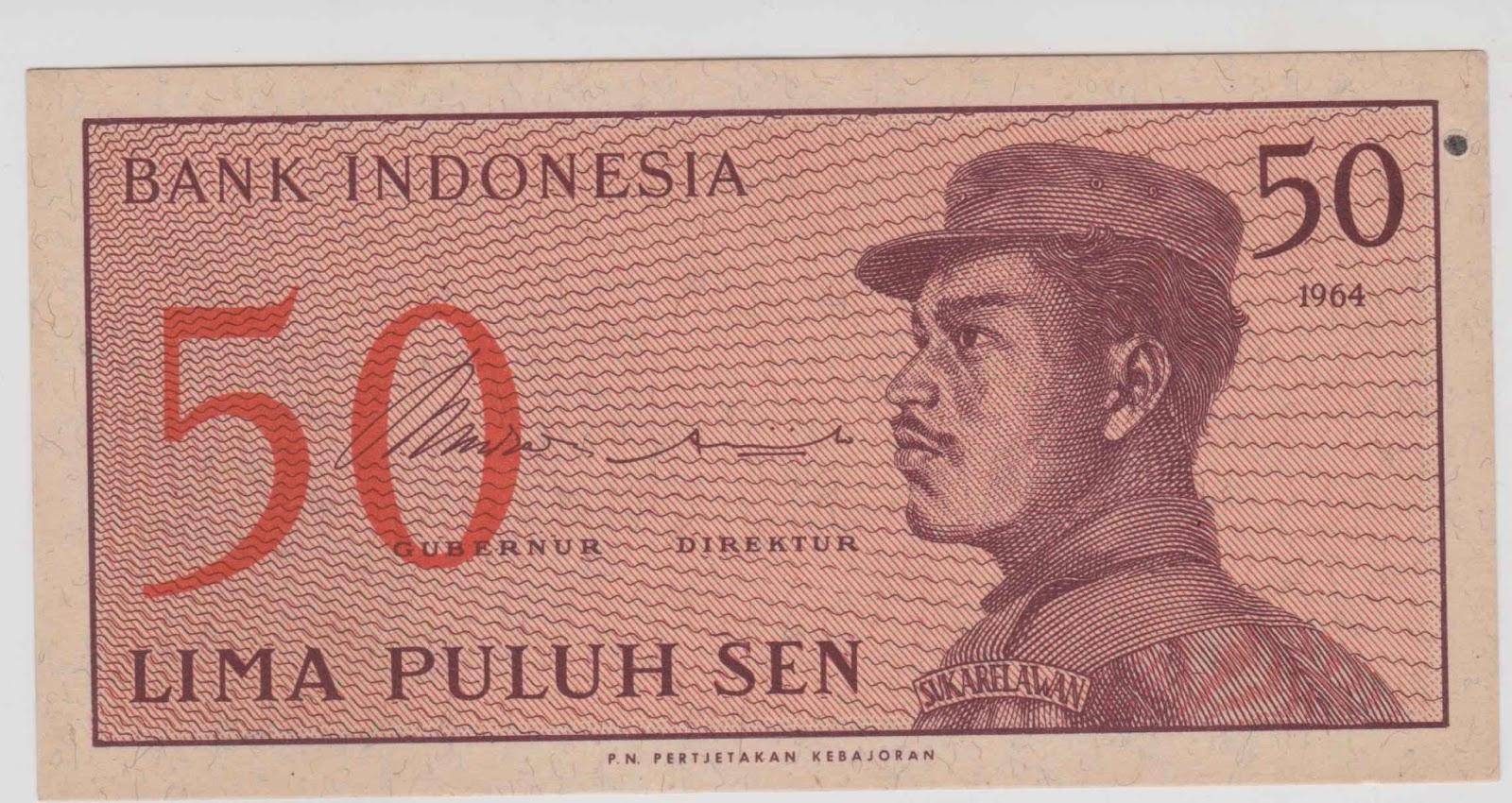 uang kuno Seri Sukarelawan tahun 1968 pecahan 50 sen