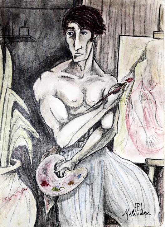 El pintor en su estudio 18-8-93