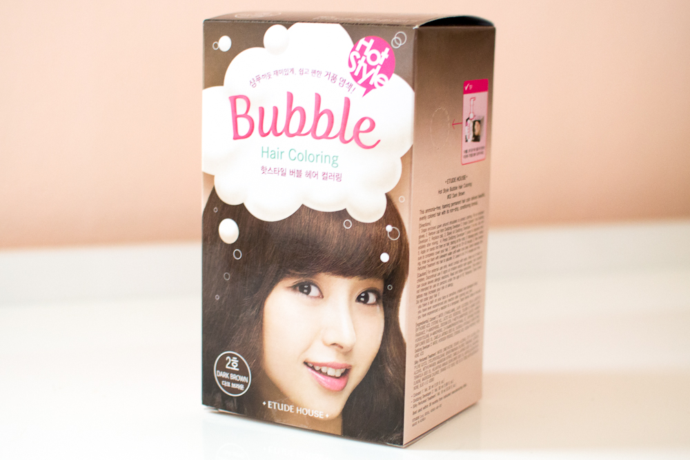 Review Etude House Bubble Hair Coloring In Wine Red Dark