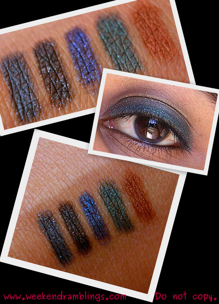 Avon Glimmersticks Diamonds Eyeliners Smokey Black Ice Twilight Sparkle Emerald Glow Swatches Review Photos Indian Beauty makeup blog