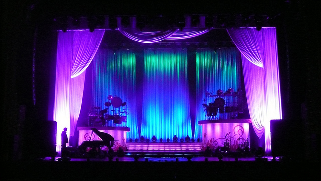 stage designs soft sets using scenic fabrics for low cost - Concert Stage Design Ideas