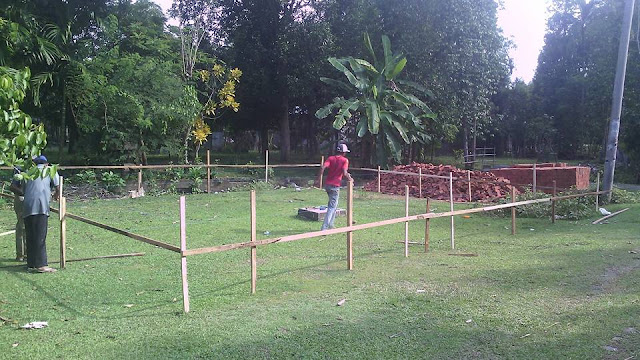 Proses Pembangunan Kantor Desa 2 Gampong Meunasah Blang Krueng Semideun Kec. Peukan Baro Kab. Pidie - Aceh