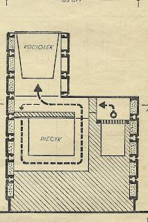 Rysunek techniczny pieca kaflowego