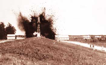 Dynamiting the Caernarvon Levee