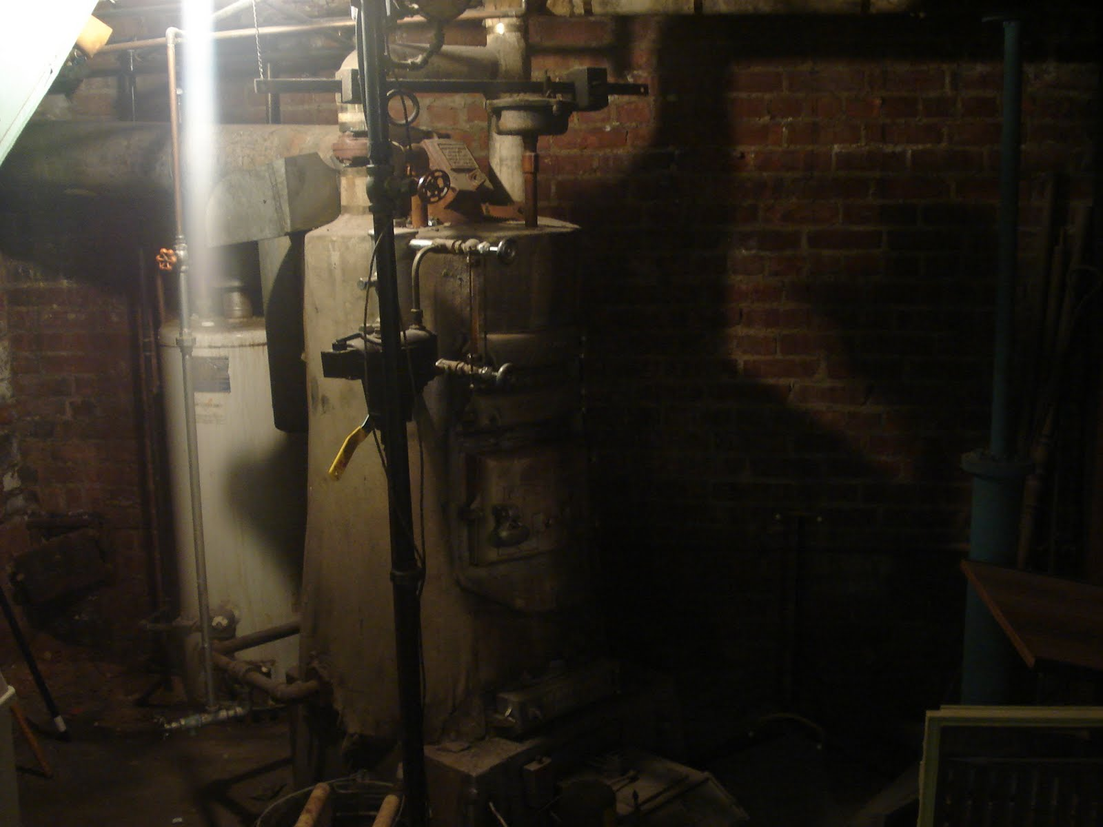 Dark Creepy Basement. This Is The Boiler In Dark Creepy Basement Of Shop  Contraption Scares