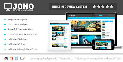 Free Download Jono v2.7 Responsive WordPress Magazine Theme