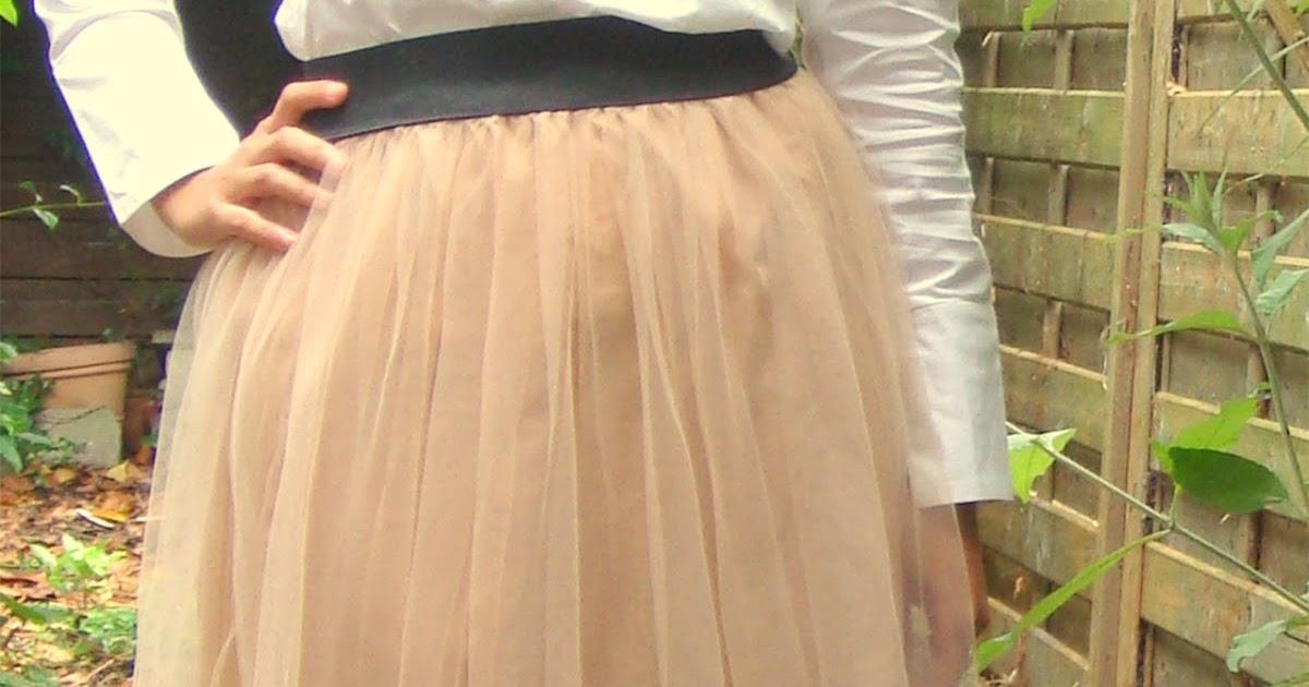 anienessence diy tulle maxi skirt