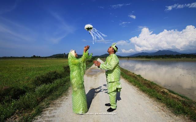 Sawah padi di kampung Darau, Besut, Terengganu