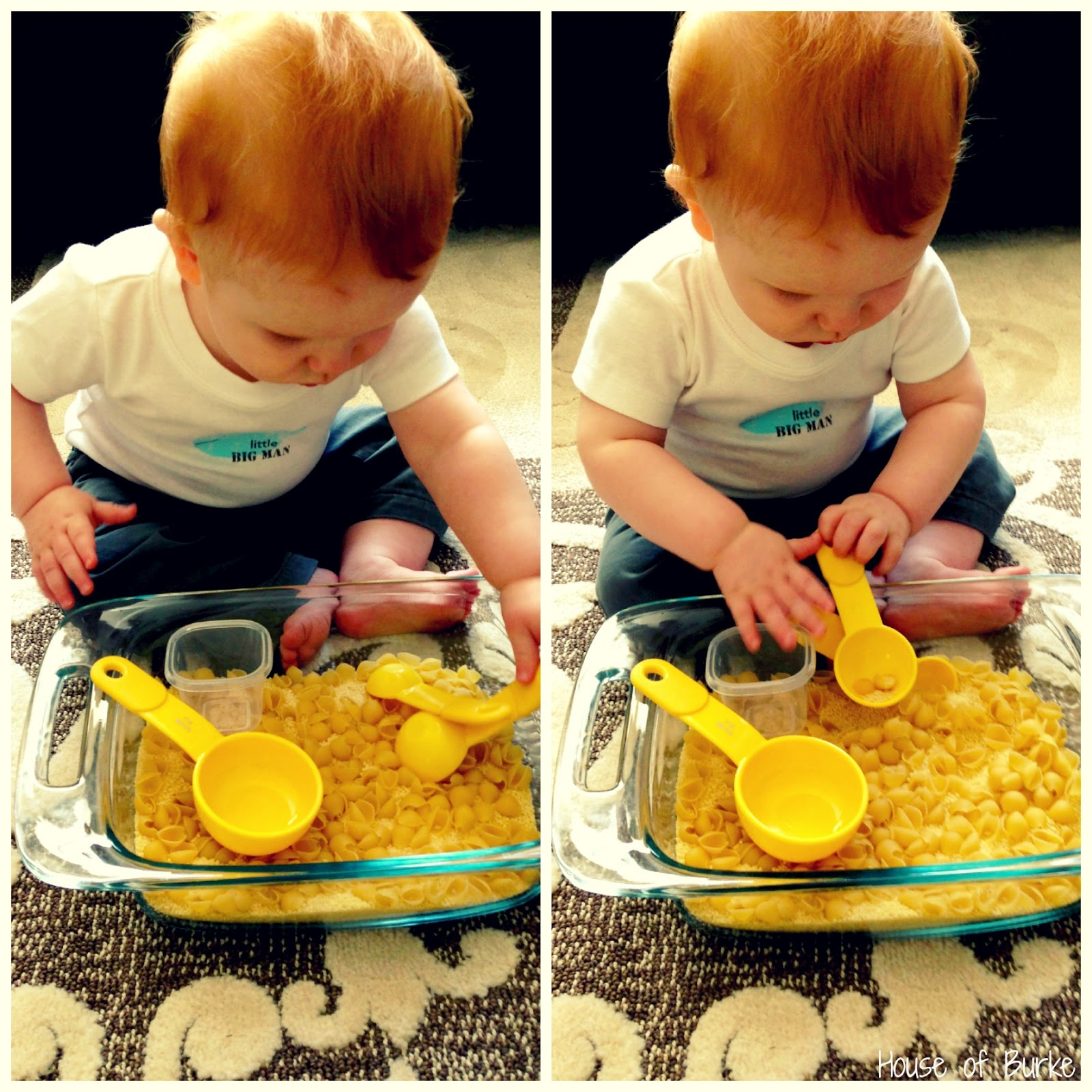 House Of Burke Sensory Baby Play Exploring Dry Pasta