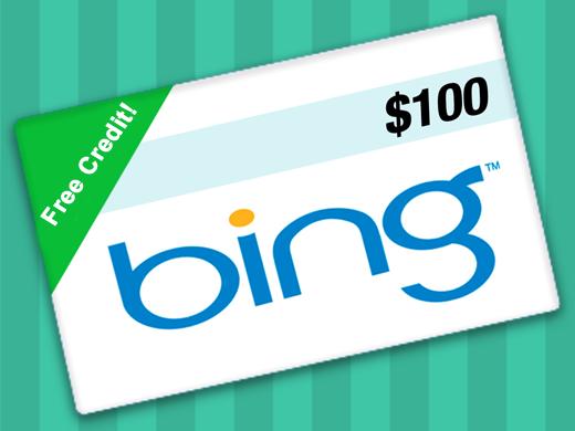 Get Free $100 Bing Ads Credit