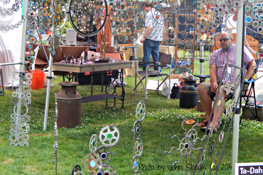 Cycling Gears and Colorful Glass at the Recycled Arts Festival 2015