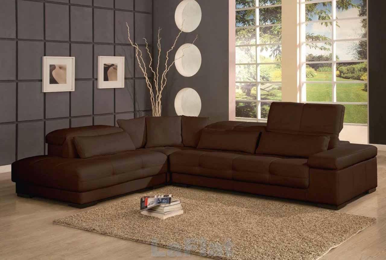 sofa minimalis warna coklat