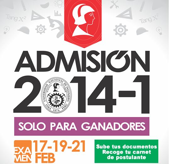 Ingresantes UNI 2014-1 RESULTADOS FINALES Examen de Admisión