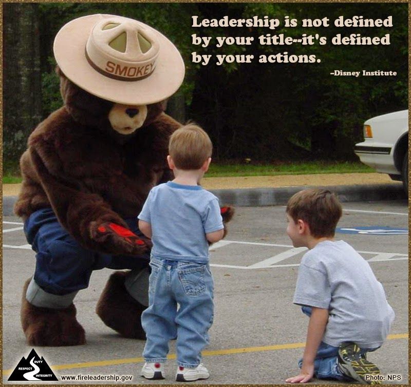 """Leadership is not defined by your title--it's defined by your actions."" - Disney Institute"