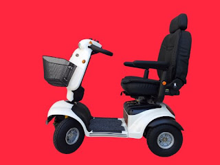 4 wheel white mobility scooter