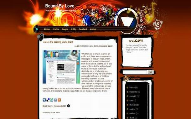Free Blogger Valentine Red Layout Theme Template - Free Web ...