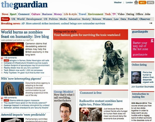 The Guardian reporting end of world