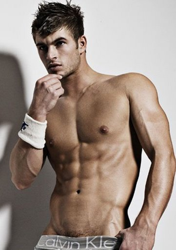 Hot Latin man shirtless
