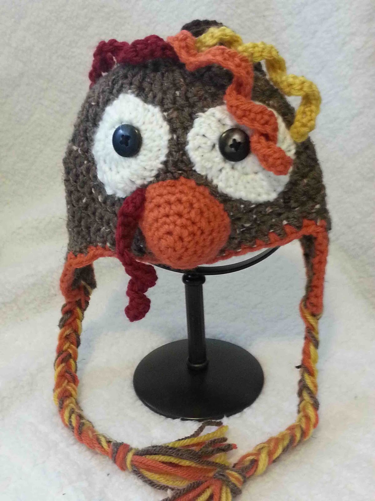 Crochet Turkey Cat Hat Pattern : Made by Me. Shared with you.: Crocheted Hats