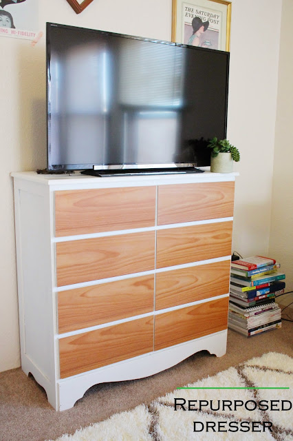 home, diy, dresser, repurposed, apartment makeover, decor, style, blog, a hammer & heels, project, home depot, spray paint, plywood veneer