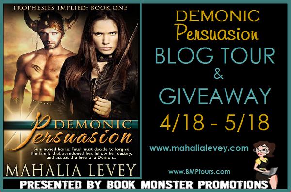 DEMONIC PERSUASION Blog Tour  & Giveaway