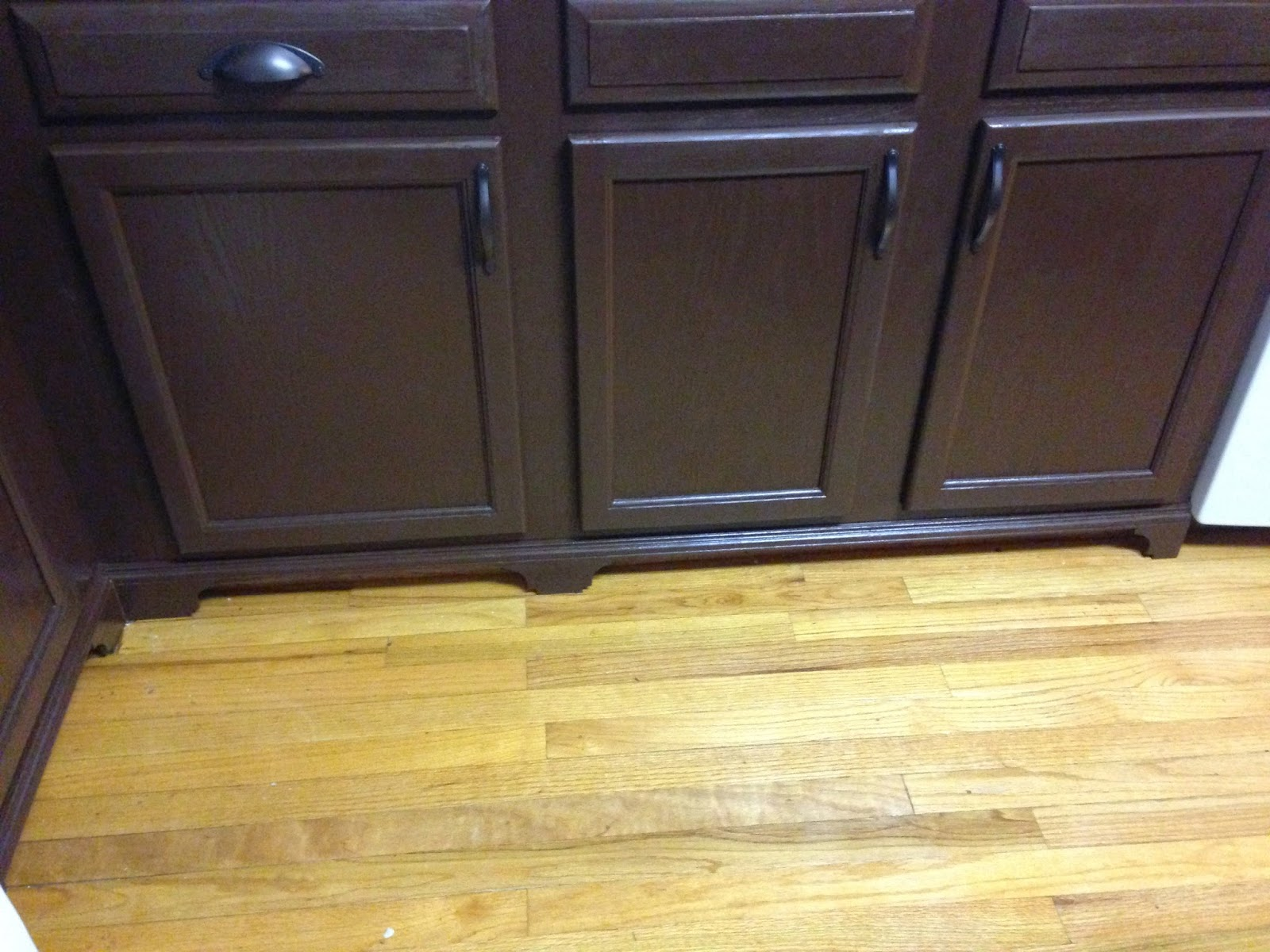 Kitchen Cabinets With Feet Budget Kitchen Renovation Adding Feet To Base Cabinets