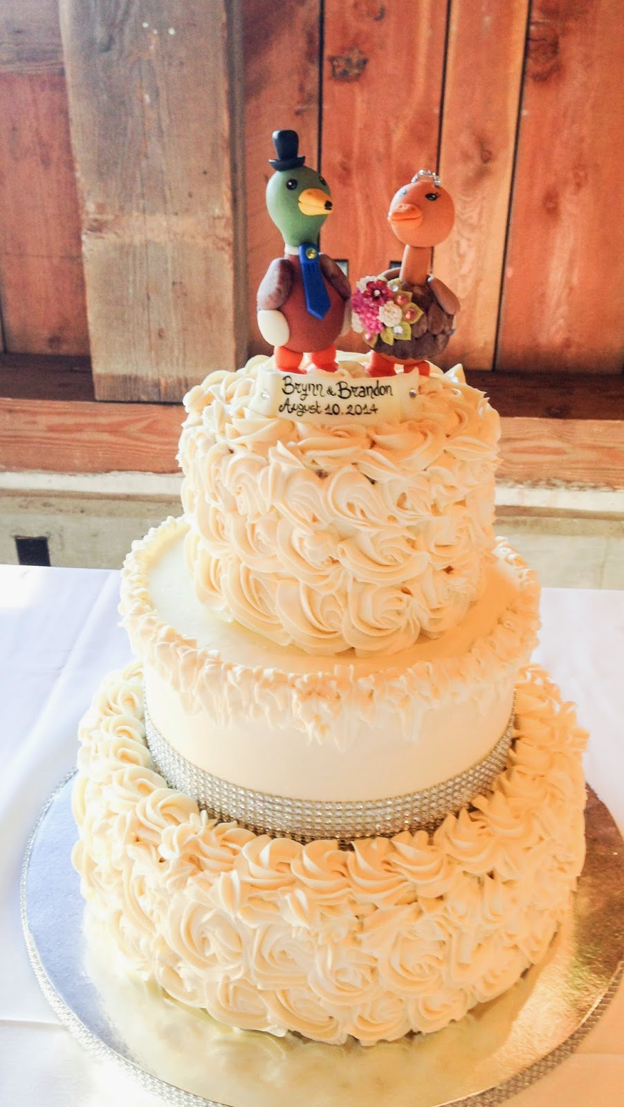 Occasional Baker: Brynn and Brandon\'s wedding cake