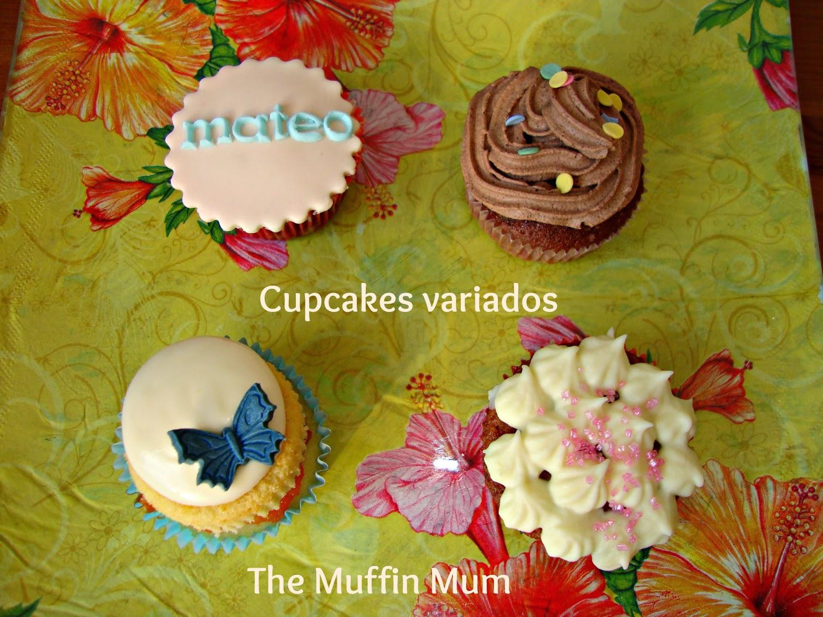 Cupcakes cumpleaños variados