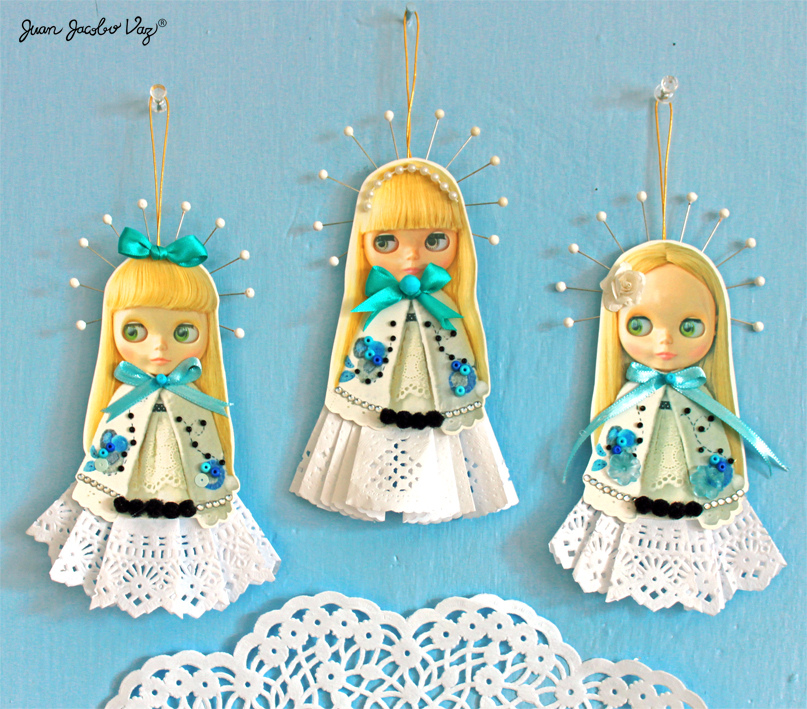 Quirky artist loft free papercraft blythe christmas for Quirky ornaments