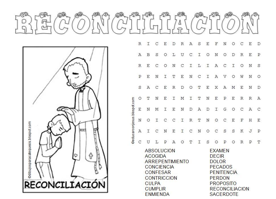Educar con Jesús: Sacramentos de sanación. Sopas de letras