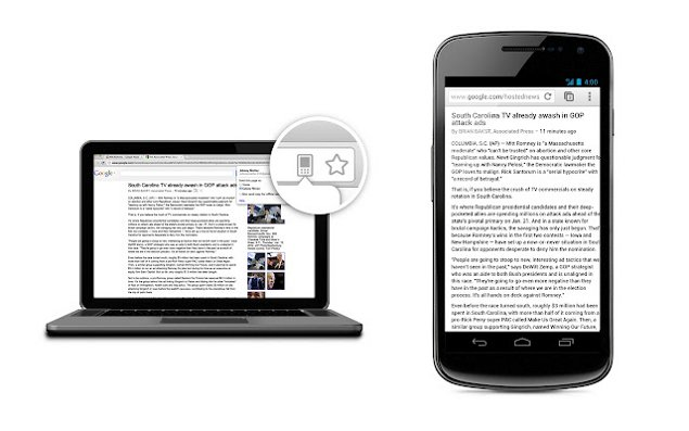 chrome to mobile Disponível Google Chrome para Android