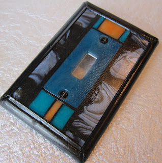 geometric switch plate