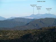 Vista de la Serra del Verd des del llom del Serrat del Pont