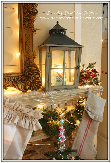 french country christmas mantel decorating ideas