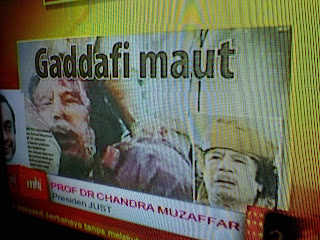 Kerajaan regime Muammar Gadaffi tumbang