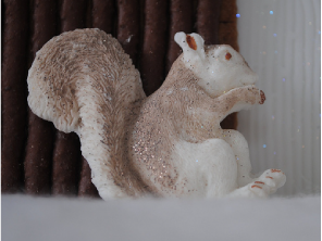 Petal paste squirrel by Torie Jayne