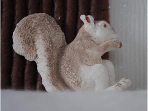 Petal paste squirrel by Torie Jayne