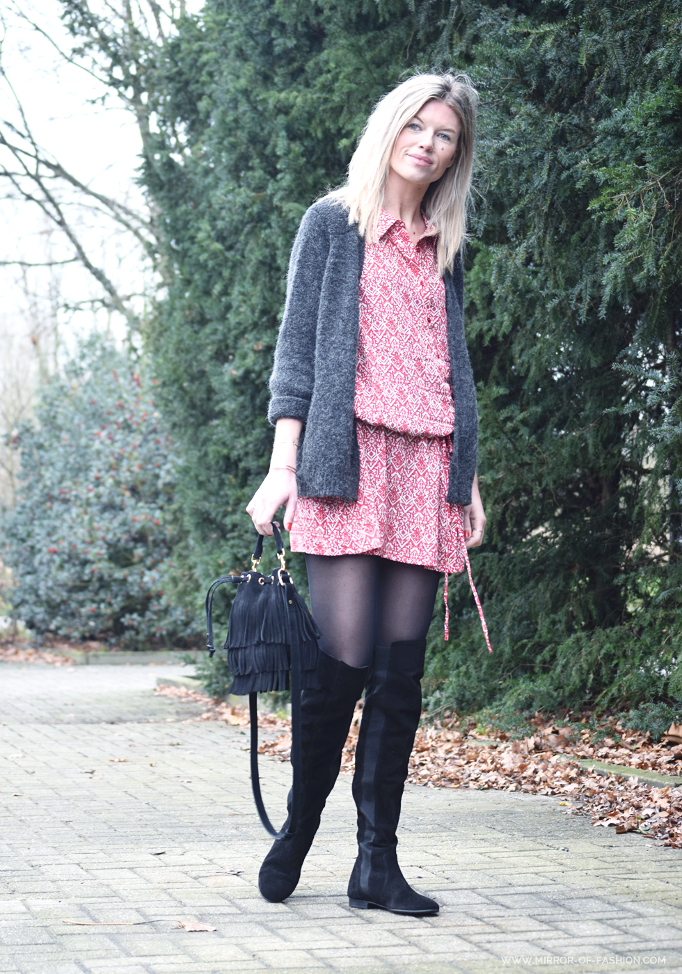 Outfit of the day, ba&sh, Zign, Saint Laurent, Falke, American Vintage, ootd, style, fahsiuon, blogger, overknee boots