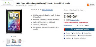 WiFi-only HTC Flyer spotted in Germany