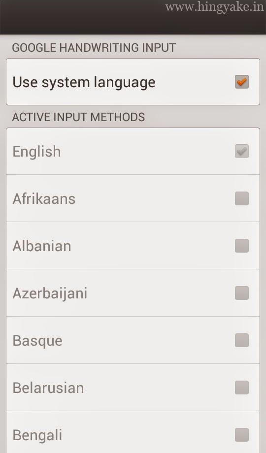 Google Handwriting Input guide kannada