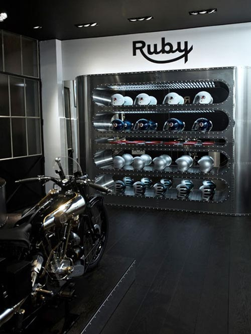 Helmet Stores Interior for Elegant Design