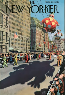 illustration of thanksgiving day parade for the new yorker magazine by arthur getz