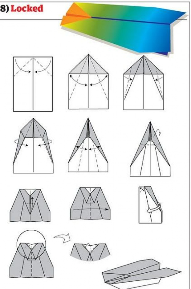 Gallery For gt How To Make Paper Airplanes That Fly Over