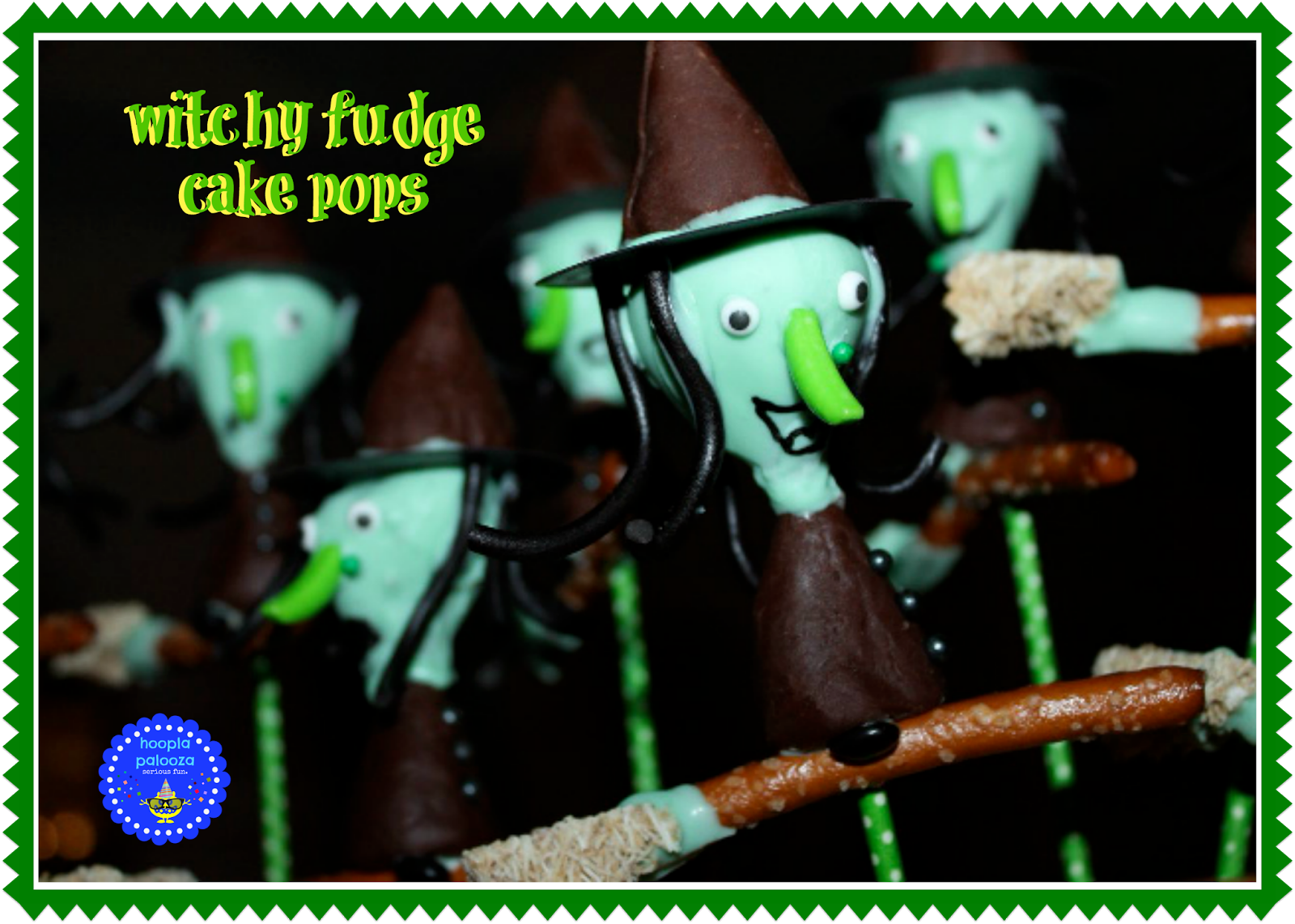 Witchy Fudge Cake Pops from Hoopla Palooza
