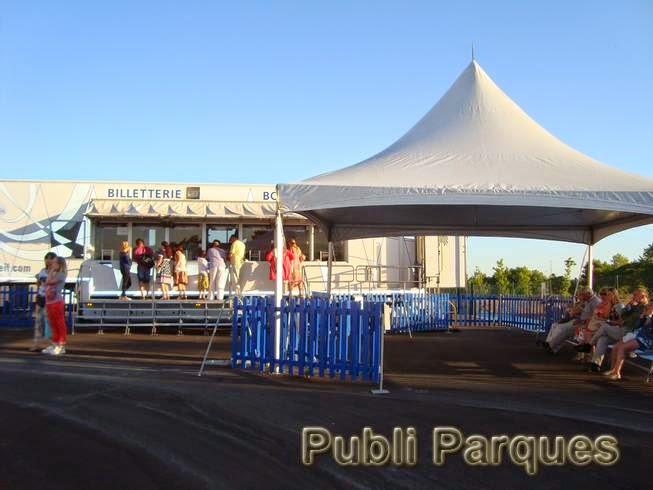 Zona de espera del Cirque du Soleil