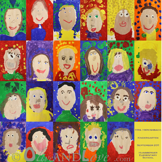 kid art auction kindergarten portrait project