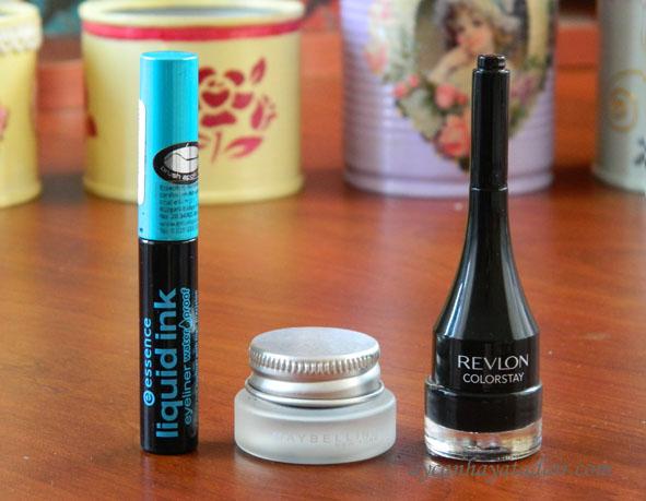 revlon,essence eyeliner