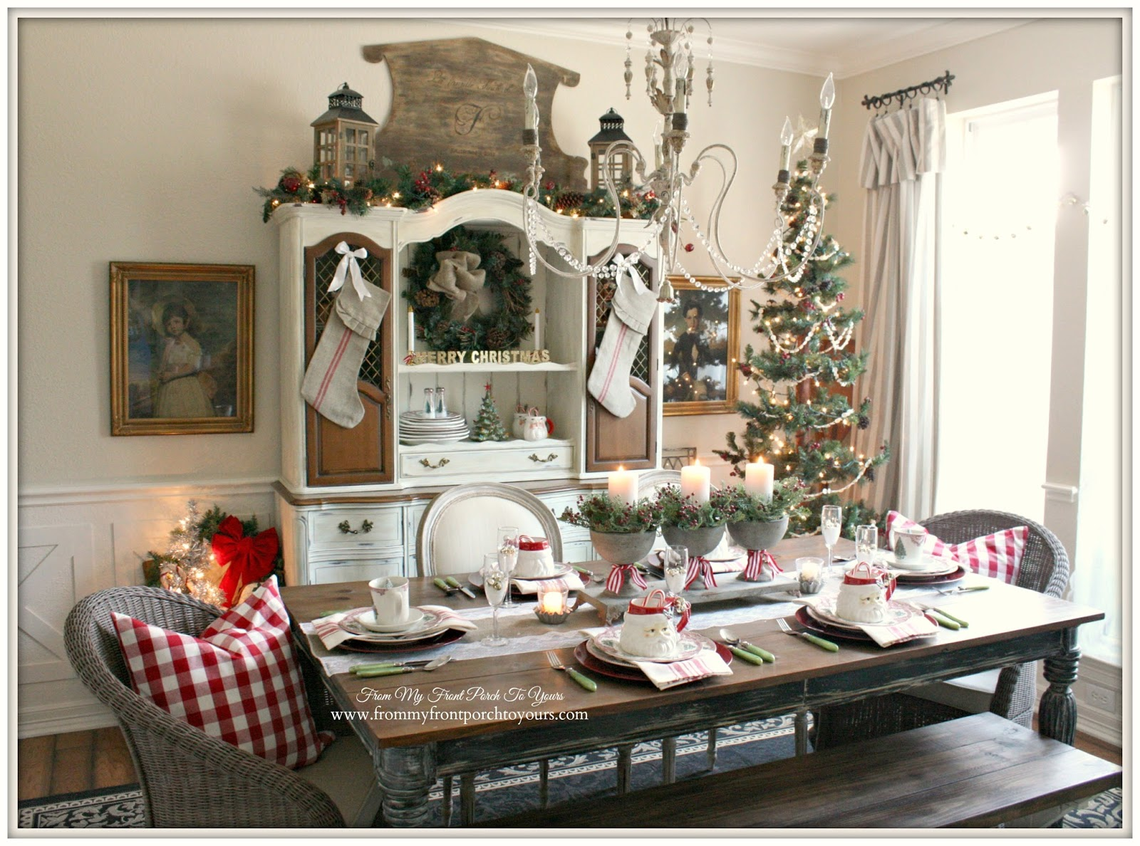 French Country Christmas Decorating Ideas: From My Front Porch To Yours: Christmas Dining Room Thru