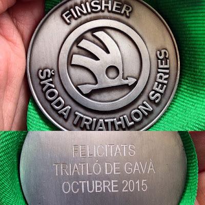 Medalla Triatló de Gavà 2015